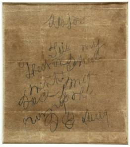The letter that Isaac Avery wrote to his father, now held by the State Archives